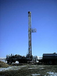 Black Diamond Energy drilling site